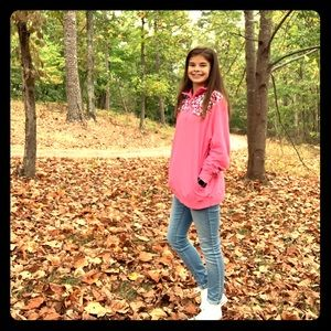 Pink simply southern pullover size small